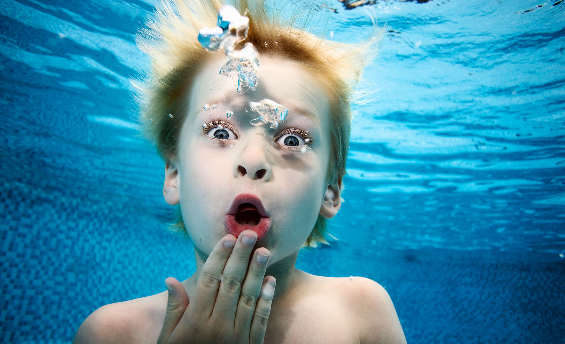 Portrait of Boy underwater